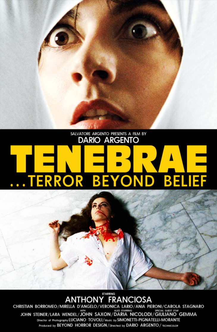 Tenebrae poster DARK VER by Beyond Horror Design
